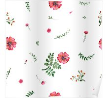 flowers watercolor Poster