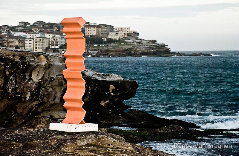 Orange Sculpture by Renée Van Kraanen