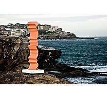 Orange Sculpture Photographic Print
