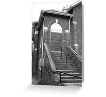 First In, Last Out - Mars Hill, N.C. Greeting Card