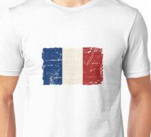 France Flag - Vintage Look Unisex T-Shirt