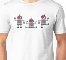 ROBOT x 3 - red + blue Unisex T-Shirt