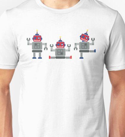 ROBOT x 3 - red + blue Unisex T-Shirt