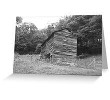 Black and White Barn - Mars Hill, N.C. Greeting Card