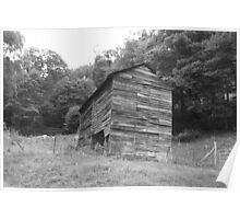 Black and White Barn - Mars Hill, N.C. Poster