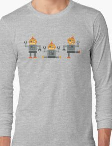 ROBOT x 3 - orange Long Sleeve T-Shirt
