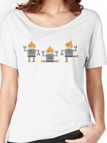 ROBOT x 3 - orange Women's Relaxed Fit T-Shirt