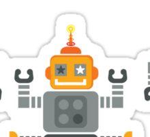 ROBOT x 3 - orange Sticker