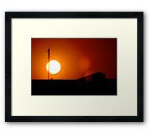 African Sunrise Framed Print