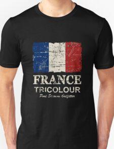 France Flag - Vintage Look T-Shirt