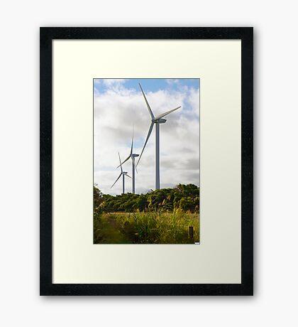Wonthaggi Wind Farm Framed Print