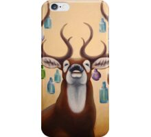 Deer with glassbottles iPhone Case/Skin