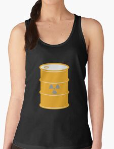 Radioactive Barrel Illustration Women's Tank Top