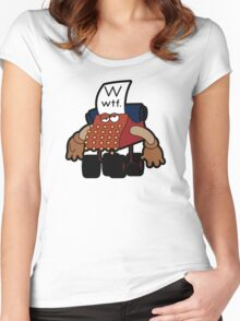 W Is For Whut-Da-Fuh Women's Fitted Scoop T-Shirt