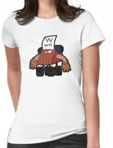 W Is For Whut-Da-Fuh Womens Fitted T-Shirt