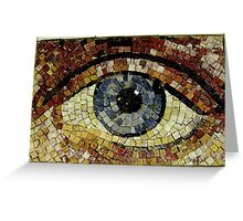 'Oculus' Mosaic Eye New York USA Greeting Card