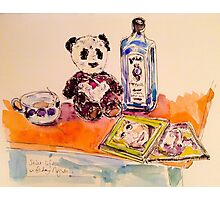 Panda with gin on Friday night Photographic Print