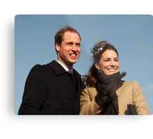 Prince William and Kate Middleton Metal Print