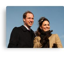 Prince William and Kate Middleton Canvas Print