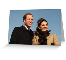 Prince William and Kate Middleton Greeting Card