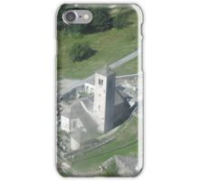 La chiesa vecchia di Macugnaga - Monte Rosa . Italy . Europa iPhone Case/Skin