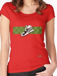8-bit trainer shoe 1 T-shirt Women's Fitted Scoop T-Shirt
