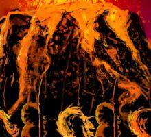 dark army in the volcano Sticker
