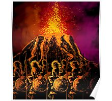 dark army in the volcano Poster