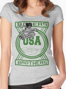 usa chicago by rogers bros Women's Fitted Scoop T-Shirt