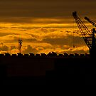 Asuncion Harbour Skyline by Gabriel Skoropada