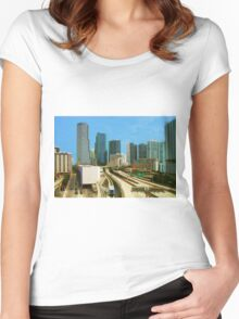 Miami, Florida Women's Fitted Scoop T-Shirt