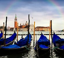 Rainbow over Grand Canal, Venice, Italy by audramitchell