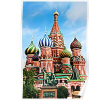 St. Basil's Cathedra, Moscow, Russia Poster