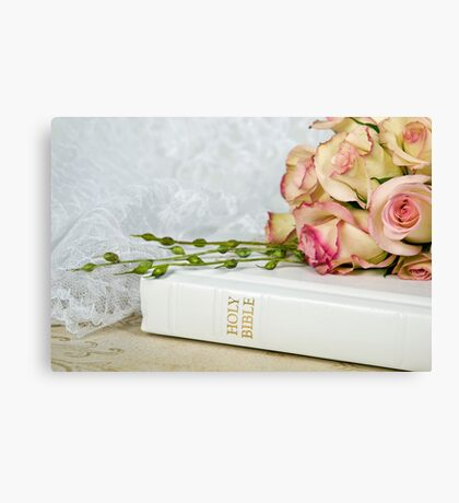 Wedding Bible Canvas Print