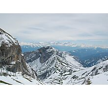 Overlooking The Swiss Alps Photographic Print