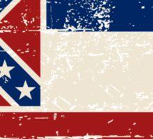 U.S. State Mississippi Flag - Vintage Look Sticker
