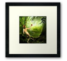 In The Garden of Good and Evil Framed Print