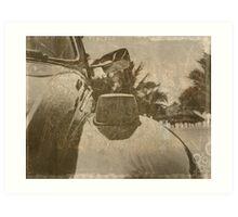Nostalgia under palm trees Art Print