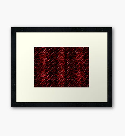 Red Caution  Framed Print