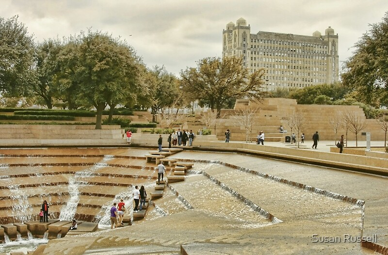 Fort Worth Water Gardens By Susan Russell Redbubble