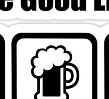 Gliding Beer Sex The Good Life Sticker