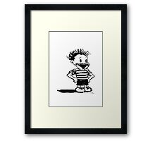 Black Calvin Framed Print