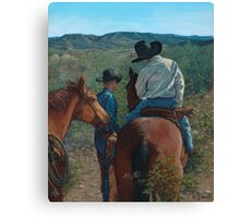 Scoping the Bosque Canvas Print