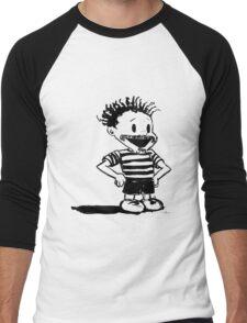 Black Calvin Men's Baseball ¾ T-Shirt