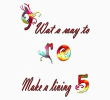 T-SHIRT- 9 to 5, what a way to make a living Womens Fitted T-Shirt