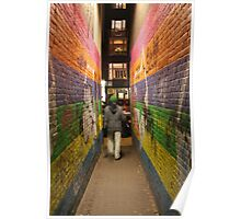Guy In Colourful Amsterdam Alley Poster