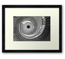 Geometric Staircase - Looking up Framed Print
