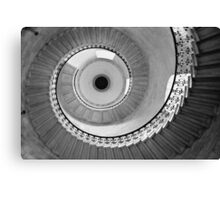 Geometric Staircase - Looking up Canvas Print