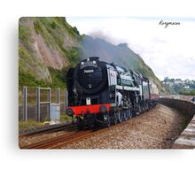 British Railways 70000 'Britannia' at Teignmouth Canvas Print