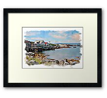 Indian Harbour watercolour Framed Print